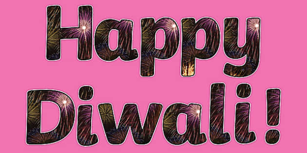 Diwali Firework Photo Display Lettering