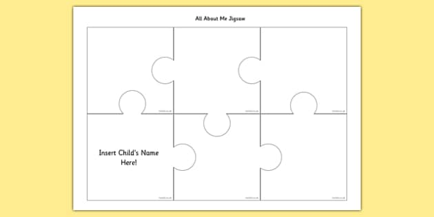 All About Me Jigsaw - all about me, jigsaw, puzzle, about, me