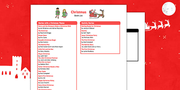 Christmas Book List - christmas, book list, book, list, christmas book, christmas list