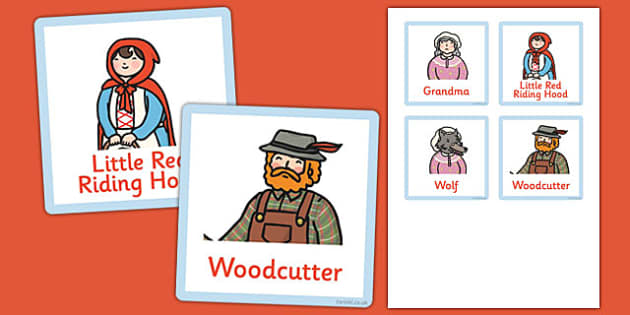 Little Red Riding Hood Grandma's House Role Play Badges - little red riding hood, grandmas house