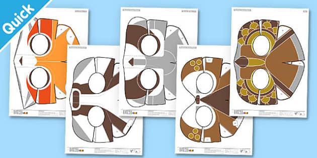 Enkl Woodland Animal Masks Printable - Enkl, arts, crafts, activity, adult, home, decor, designer, designer, decoration, interior, project, printable, cute, simple, paper, models, 3D, shape, colour, woodland animals, masks, woodland, animals