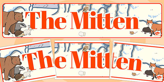 The Mitten Display Banner - the mitten story, display banner, banner