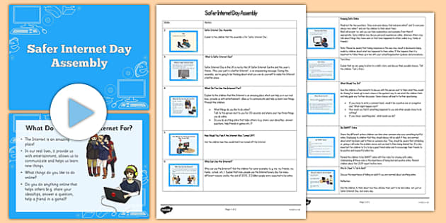 Safer Internet Day Assembly Pack - internet, safety, assembly, powerpoint, safer internet day
