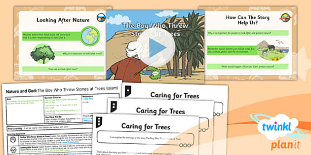 PlanIt - RE Year 2 - Nature and God Lesson 6: The Boy Who Threw Stones at Trees (Islam) Lesson Pack - Prophet Muhammad, Islam