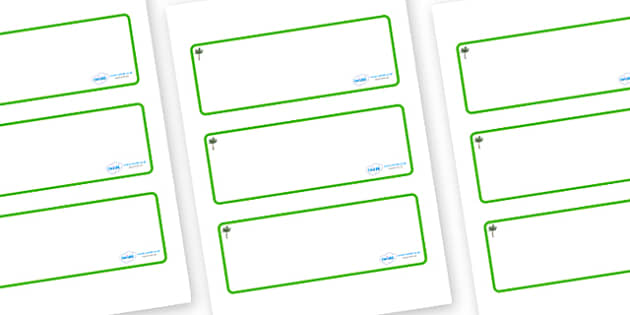 Palm Tree Themed Editable Drawer-Peg-Name Labels (Blank) - Themed Classroom Label Templates, Resource Labels, Name Labels, Editable Labels, Drawer Labels, Coat Peg Labels, Peg Label, KS1 Labels, Foundation Labels, Foundation Stage Labels, Teaching La
