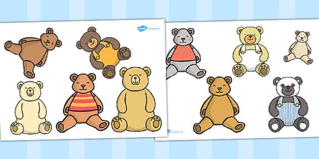 Ten in a Bed Stick Puppets - craft, activity, activities, bear