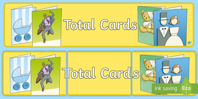 Total Cards Display Banner - cards, shop, card, display, banner, sign, poster