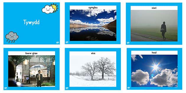 Weather Display Photos PowerPoint - seasons, weather, display