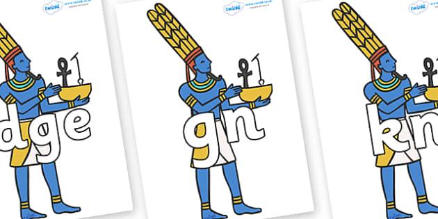 Silent Letters on Egyptians - Silent Letters, silent letter, letter blend, consonant, consonants, digraph, trigraph, A-Z letters, literacy, alphabet, letters, alternative sounds
