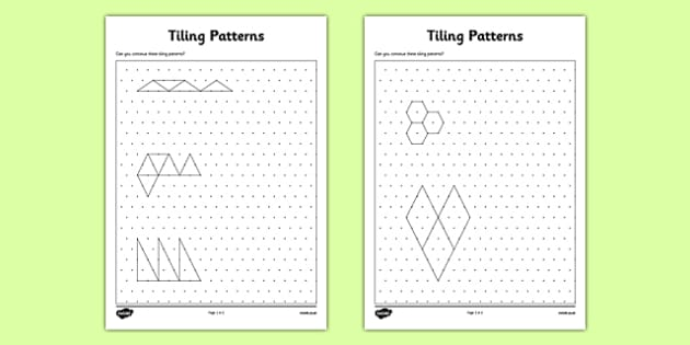 Tiling Patterns on Isometric Dot Paper - CfE, tiling, shape, patterns, sequence