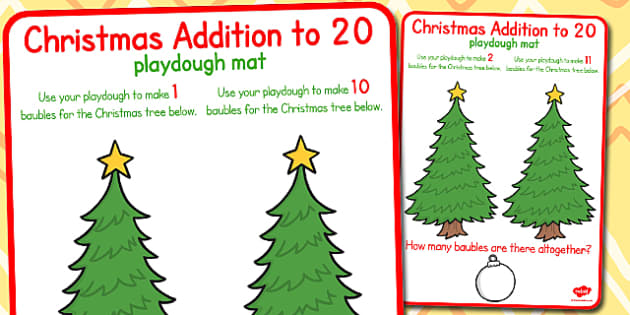 Christmas Addition to 20 Playdough Mats - christmas, playdough