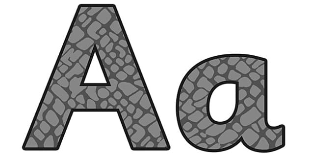 Elephant Pattern Display Lettering (Small) - safari, safari lettering, safari display lettering, elephant lettering, elephant pattern lettering, elephant