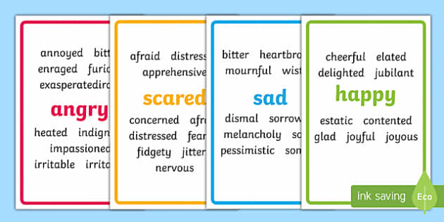 Ikea Tolsby Feelings Adjectives Synonyms Prompt Frame