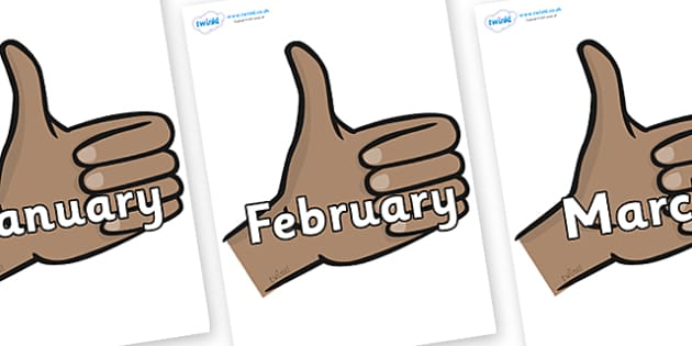 Months of the Year on Thumbs Up - Months of the Year, Months poster, Months display, display, poster, frieze, Months, month, January, February, March, April, May, June, July, August, September