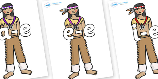 Modifying E Letters on Native Americans - Modifying E, letters, modify, Phase 5, Phase five, alternative spellings for phonemes, DfES letters and Sounds