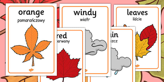 Autumn Display Posters Polish Translation - polish, autumn, display, posters