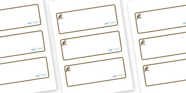 Osprey Themed Editable Drawer-Peg-Name Labels (Blank) - Themed Classroom Label Templates, Resource Labels, Name Labels, Editable Labels, Drawer Labels, Coat Peg Labels, Peg Label, KS1 Labels, Foundation Labels, Foundation Stage Labels, Teaching Label