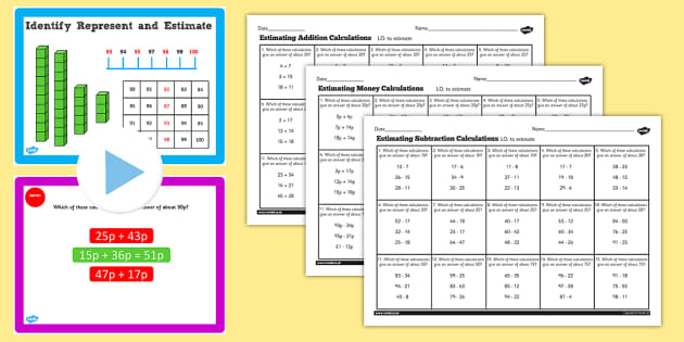 Year 2 Maths Estimating Calculations Lesson Pack - pack, y2, math