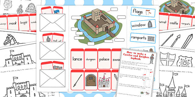 Castles and Knights Lapbook Creation Pack - australia, lapbook