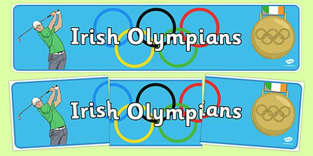 Rio 2016 Olympics Irish Olympians Display Banner - irish, olympians, banner, Ireland, Olympic Games, rio
