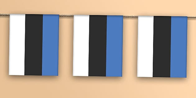 Estonia Flag Bunting - flag, world, country, countries, Europe, display, Olympics, Rio, 2016, celebrate, event