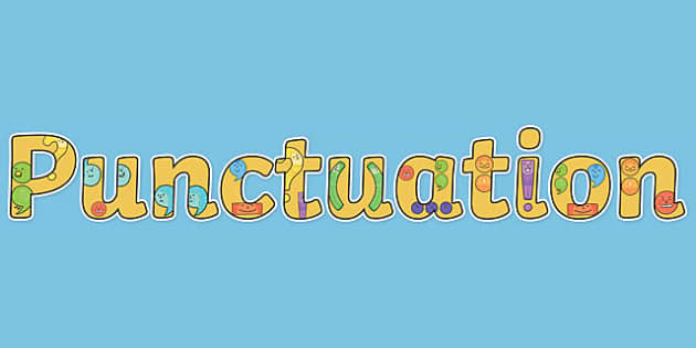 Punctuation Display Lettering - English lettering, English display, English display lettering, punctuation