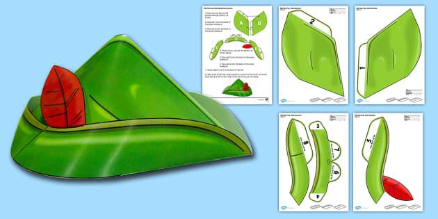 Robin Hood Printable Role Play Hat - robin hood, printable, role-play