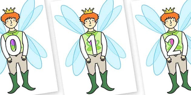 Numbers 0-31 on Fairy Prince - 0-31, foundation stage numeracy, Number recognition, Number flashcards, counting, number frieze, Display numbers, number posters