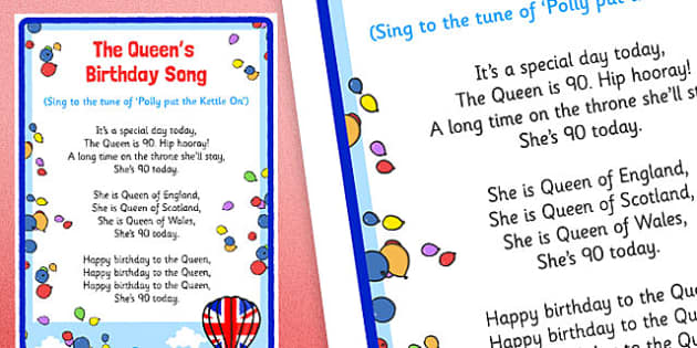 The Queen's Birthday Song Display Posters