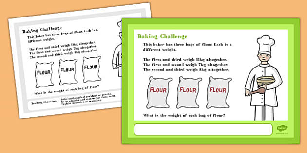 A4 Baking Maths Challenge Poster - posters, displays, display