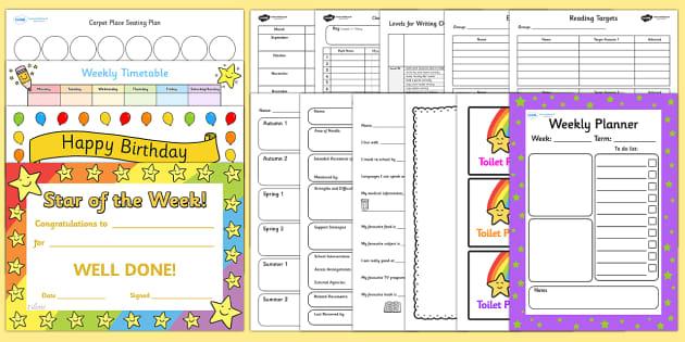 Class Management Teacher Folder Resource Taster Pack - class management, folder organiser, organisation, teacher pack, folder taster pack, example, sample