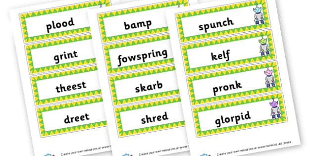 Phase 4 Nonsense Word Cards - DFE Letters and Sounds Phonics Screening Check Primary Resources
