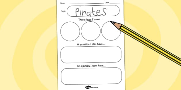 Topic Write Up Sheet - writing aid, write, review, writing