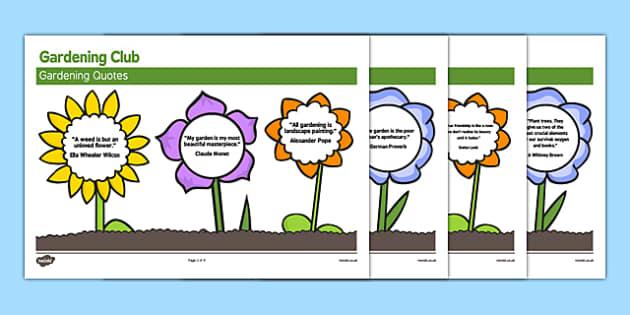 Elderly Care Gardening Club Quotes - Elderly, Reminiscence, Care Homes, Gardening Club