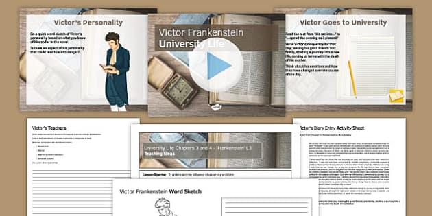Frankenstein Lesson pack 3: University Life Chapters 3 and 4 - university life, chapters, 3, 4, frankenstein, lesson 3