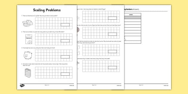 Scaling Problems - word problems, real life problems, context