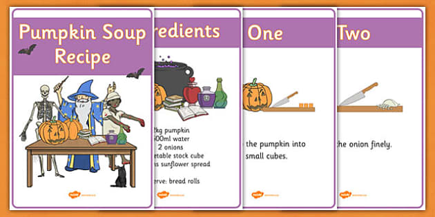 Halloween Pumpkin Soup Recipe Sheets Vegetarian - Halloween Pumpkin Soup Recipe Sheets Vegetarian, Halloween, how to make pumpkin soup, pumpkin soup, soup recipe, recipe, recipe card, making soup, display poster, recipe informationHalloween, pumpkin,