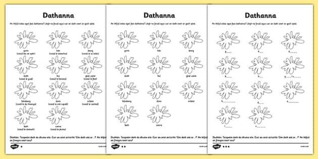 Colours Activity Sheet Gaeilge - gaeilge, irish, colours, activity, sheet, worksheet