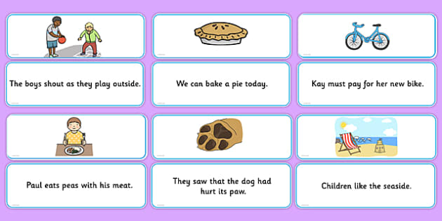 Phase 5 Sentences and Pictures Matching Cards - phase 5, matching
