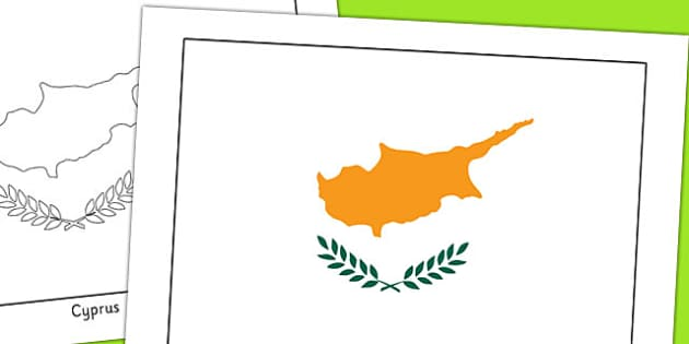 Cyprus Flag Display Poster - geography, countries, display