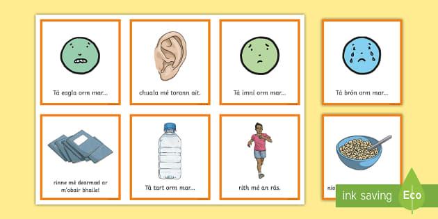 Emotions Sentence Matching Cards Gaeilge - Requests - ROI, feelings, mothúcháin, mé féin, myself, abairtí, sentences, Irish, Gaeilge, Iris