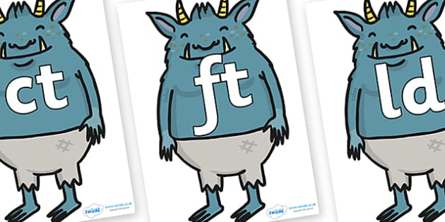 Final Letter Blends on Trolls  - Final Letters, final letter, letter blend, letter blends, consonant, consonants, digraph, trigraph, literacy, alphabet, letters, foundation stage literacy