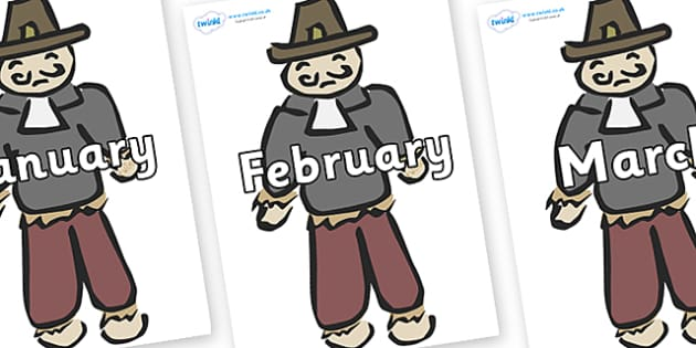 Months of the Year on Guy Fawkes - Months of the Year, Months poster, Months display, display, poster, frieze, Months, month, January, February, March, April, May, June, July, August, September