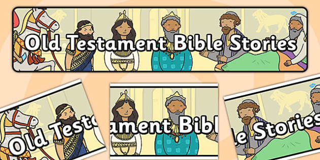 Old Testament Bible Stories Display Banner - display, banner