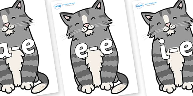 Modifying E Letters on Kittens - Modifying E, letters, modify, Phase 5, Phase five, alternative spellings for phonemes, DfES letters and Sounds