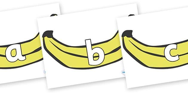 Phoneme Set on Bananas - Phoneme set, phonemes, phoneme, Letters and Sounds, DfES, display, Phase 1, Phase 2, Phase 3, Phase 5, Foundation, Literacy