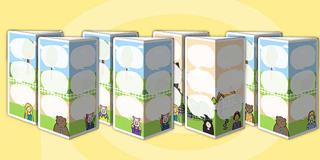 Traditional Tales Themed Standing Tabletop Targets - traditional tales, traditional tales themed, table top targets, targets, class targets, themed targets