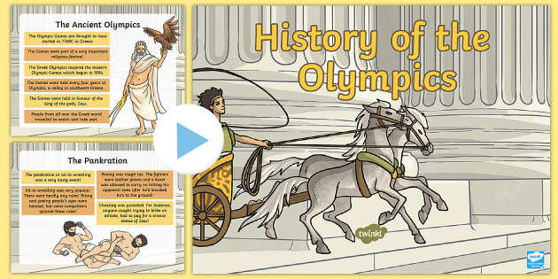 History of the Olympics PowerPoint - History of the Olympics,olympics,sport, Olympic Games, Ancient Greece