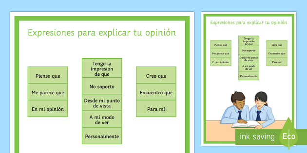 Opinion Phrases Display Poster Spanish