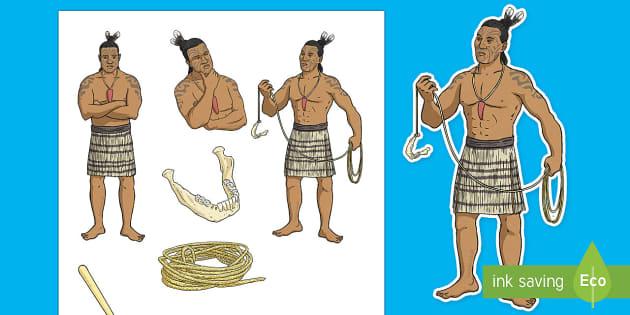Māui and the Giant Ika Stick Puppets - Maui Myths Maori legends